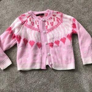 Kawaii pink heart sweater love shack fancy novelty